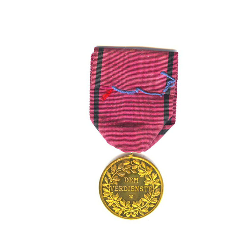 Medal of the Order of the Crown Wutemburg Württemberg Gold 2