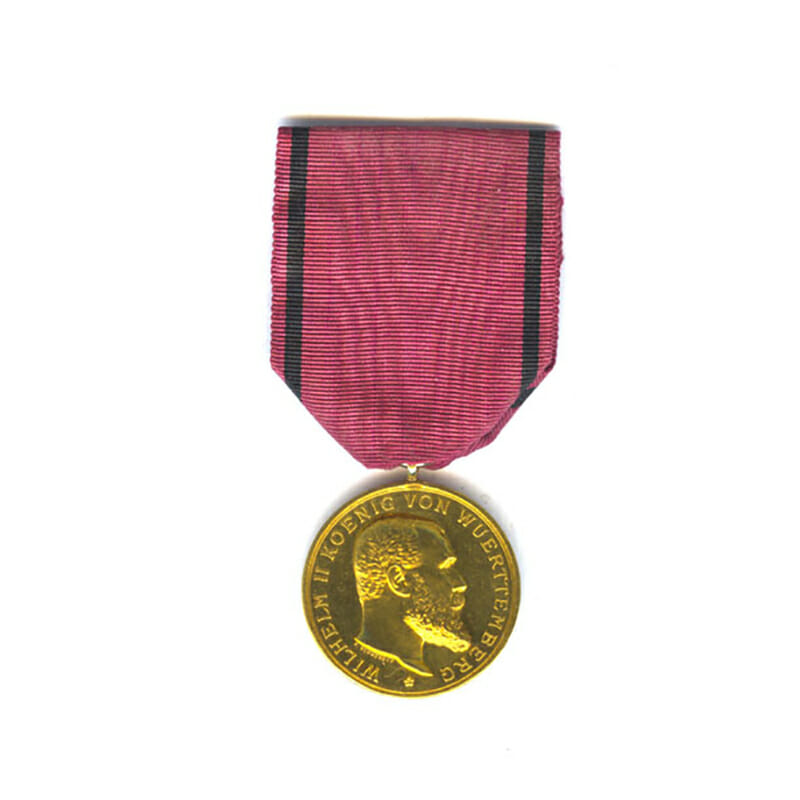 Medal of the Order of the Crown Wutemburg Württemberg Gold 1