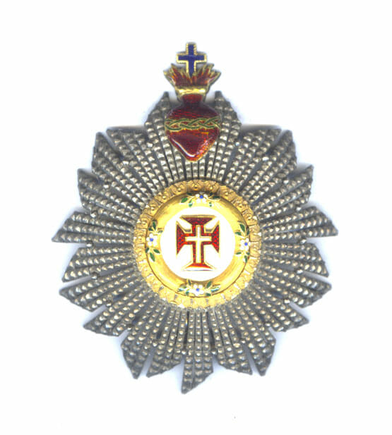 Order of Christ  Grand Cross breast star Kingdom with sacred heart 1