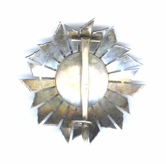 Order of Military Merit Grand Cross breast star in hallmarked silver 3