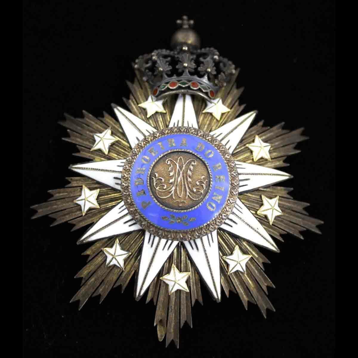 Order of  Villa Vicosa Grand Cross breast star excellent fine quality star... 1