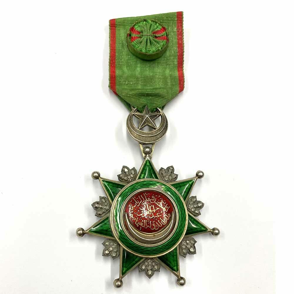 Order of Osmanieh Commander neck badge 1