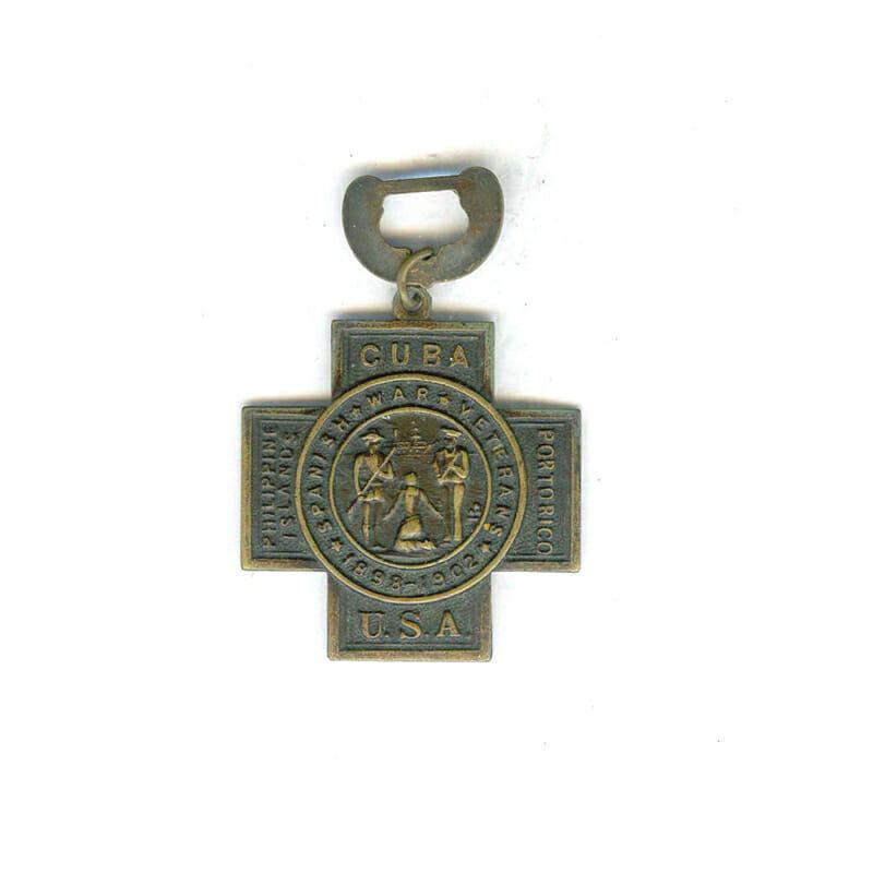 Spanish War Veterans 1889-1902 cross only 2