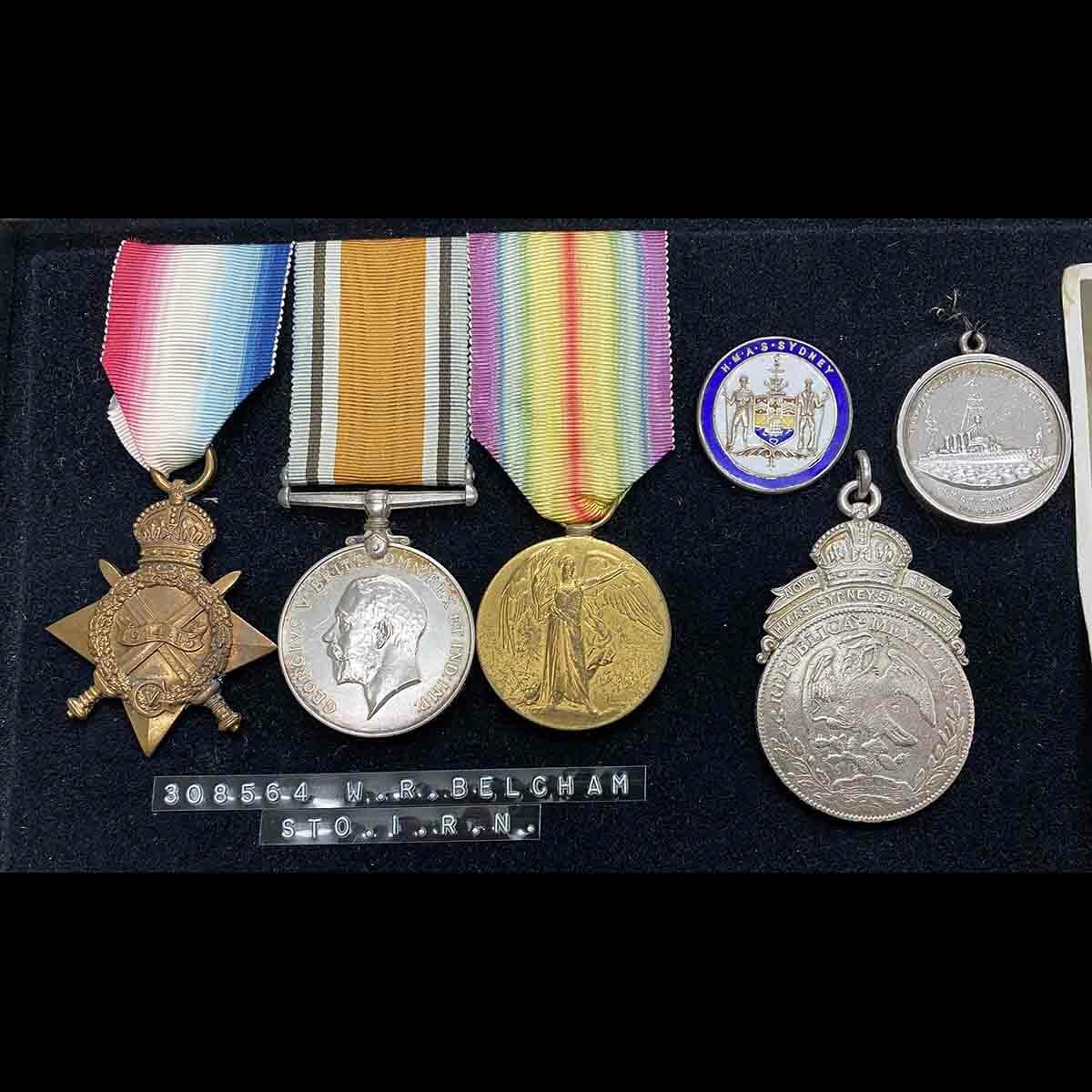 Sydney Emden Medal Group RAN Australia Original CREW 4