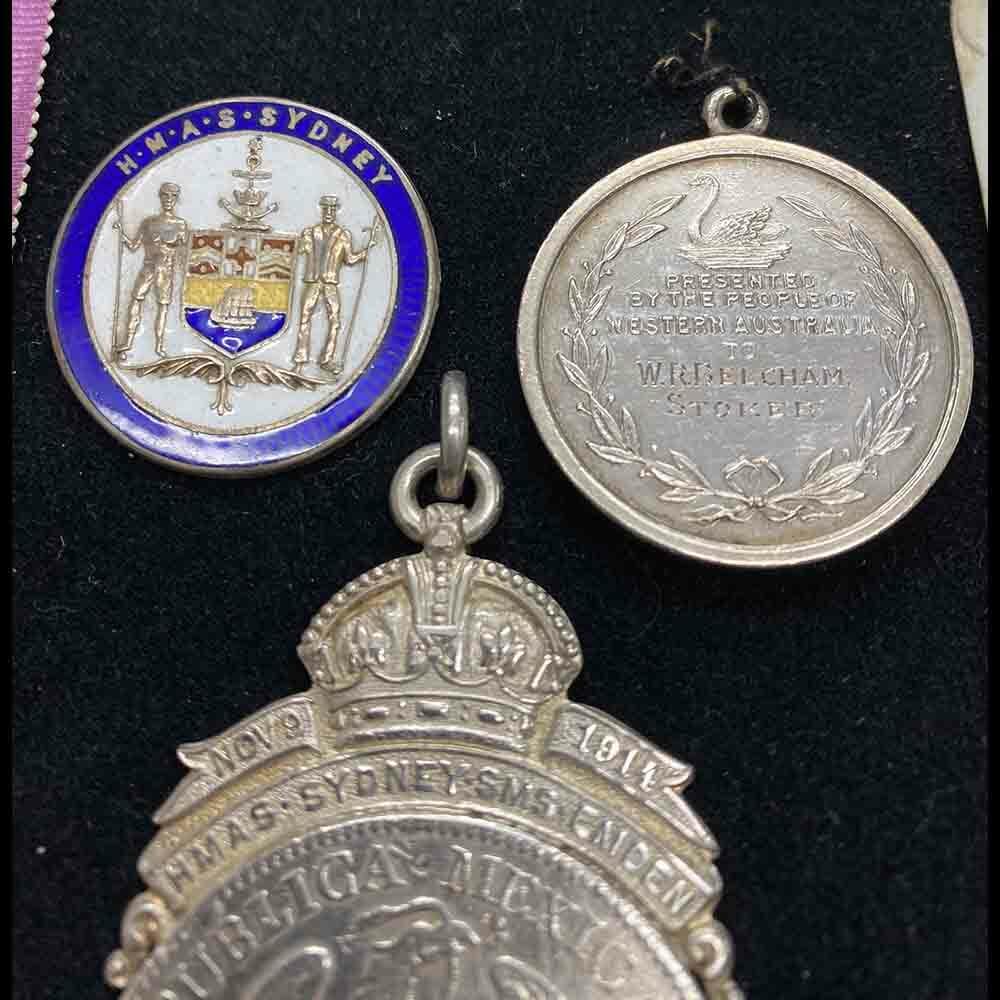 Sydney Emden Medal Group RAN Australia Original CREW 6