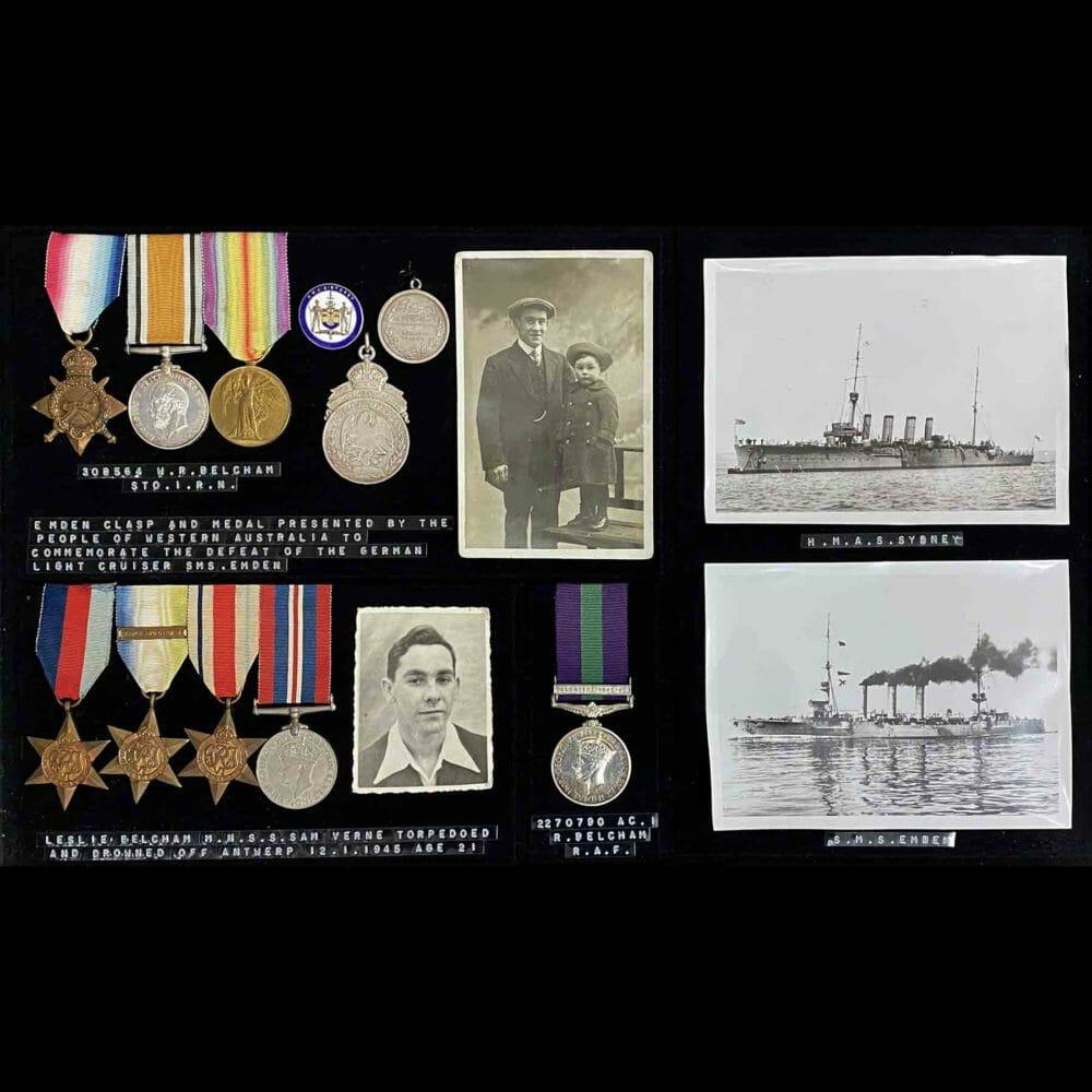 Sydney Emden Medal Group RAN Australia Original CREW 1