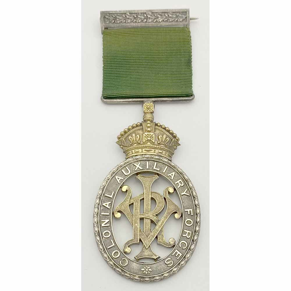 Colonial Auxiliary Forces Decoration VRI 1