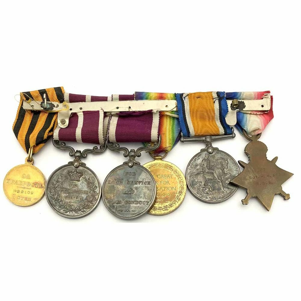 WW1 Russian Gold Imperial Bravery Medal Group 2