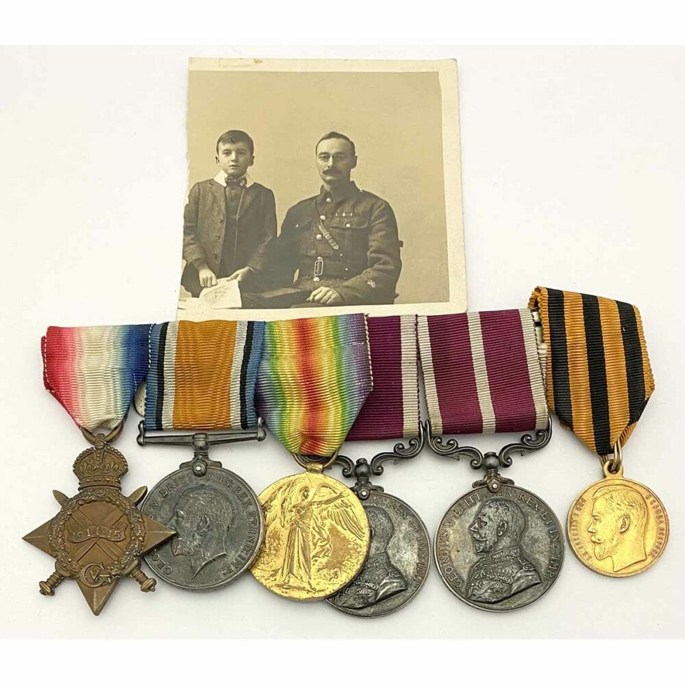 WW1 Russian Gold Imperial Bravery Medal Group 1