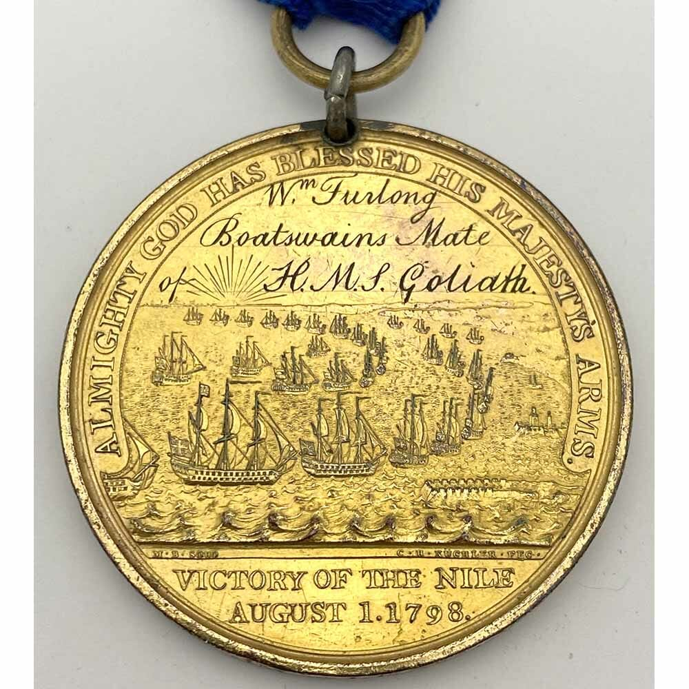 Davisons Nile Named HMS Goliath gilt 4