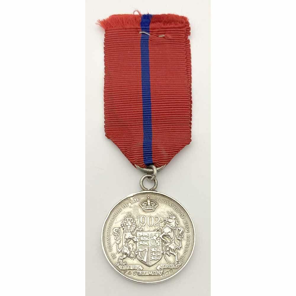 1902 Coronation Private Medal Silver 2