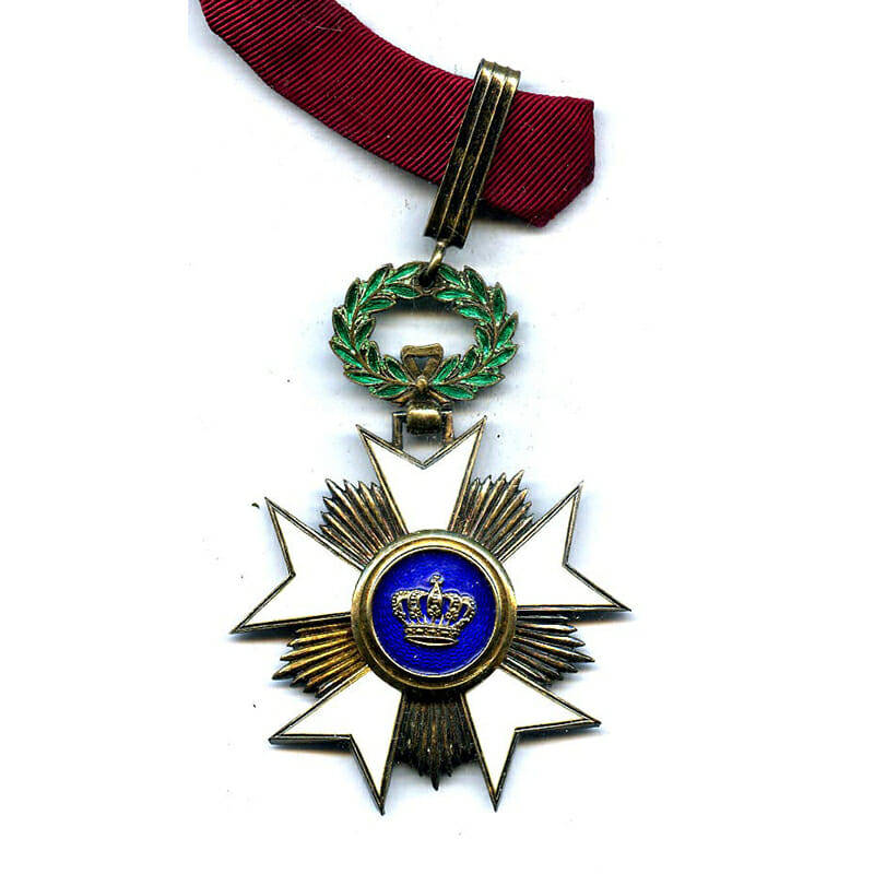 Order of the Crown  Commander with award document to E.L.Westerveld Director General... 1