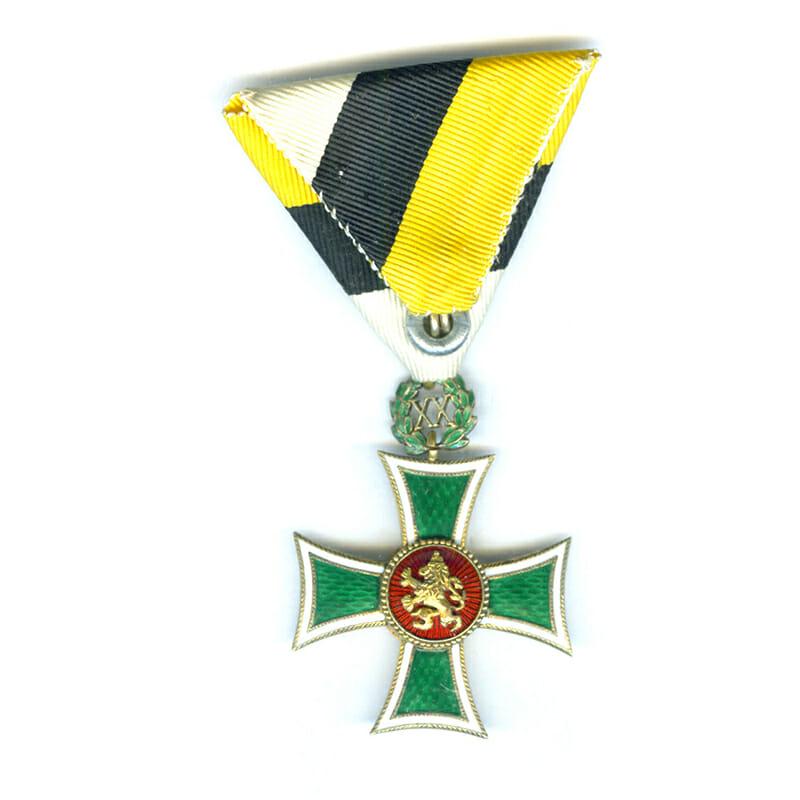 Military Long Service Cross 1st class for XX years Boris III superb... 2