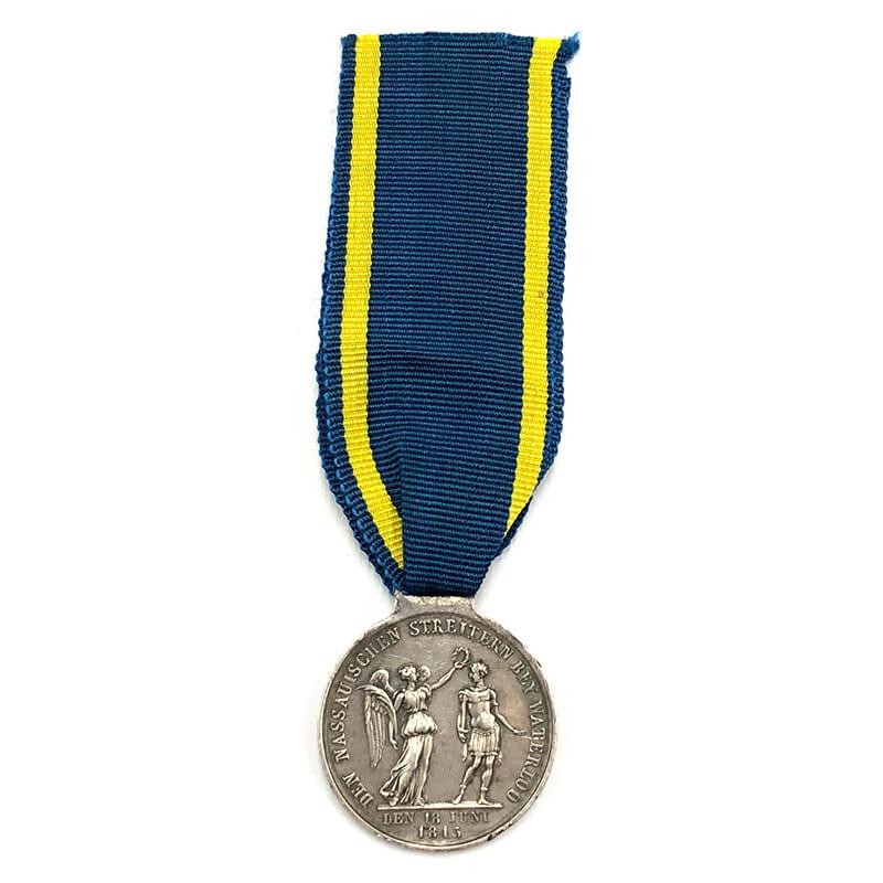 Nassau Waterloo medal 2