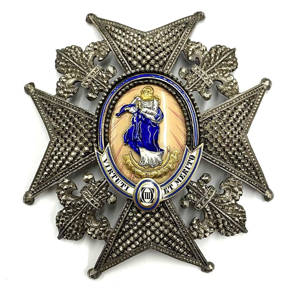 Order of Charles III Grand Cross  breast star 1