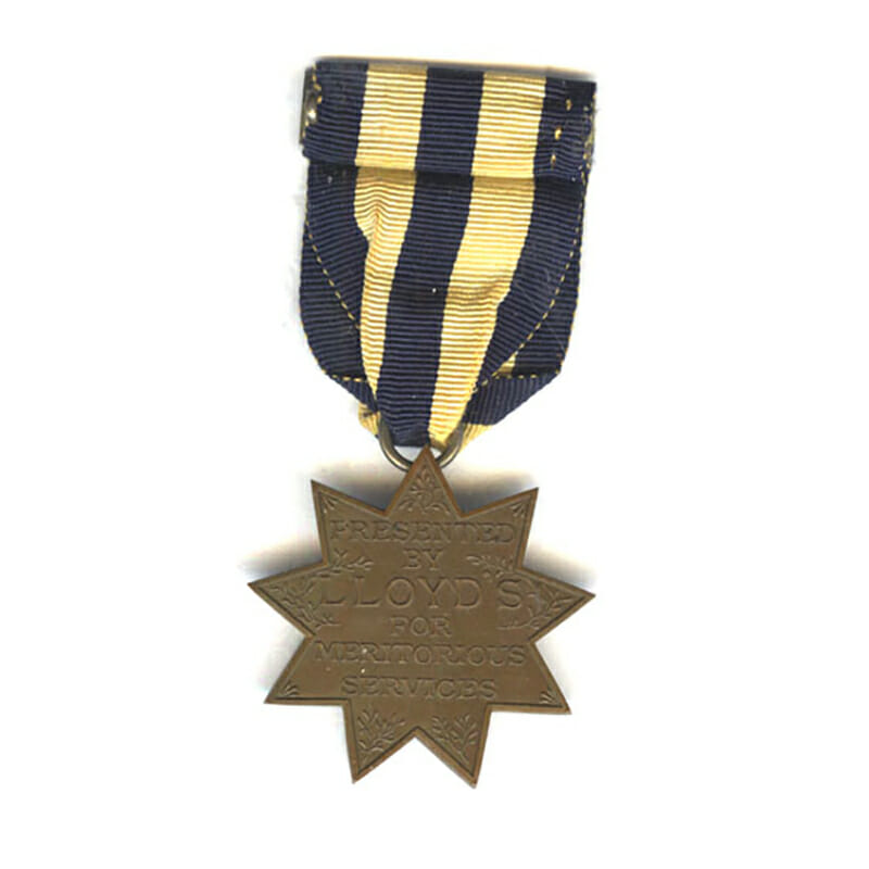 Lloyd's Medal for Meritorious Services 2