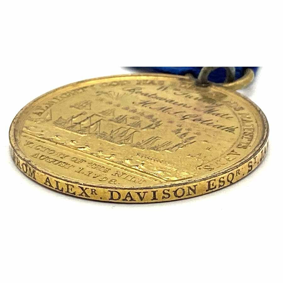 Davisons Nile Named HMS Goliath gilt 3
