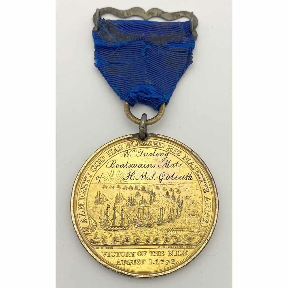 Davisons Nile Named HMS Goliath gilt 2