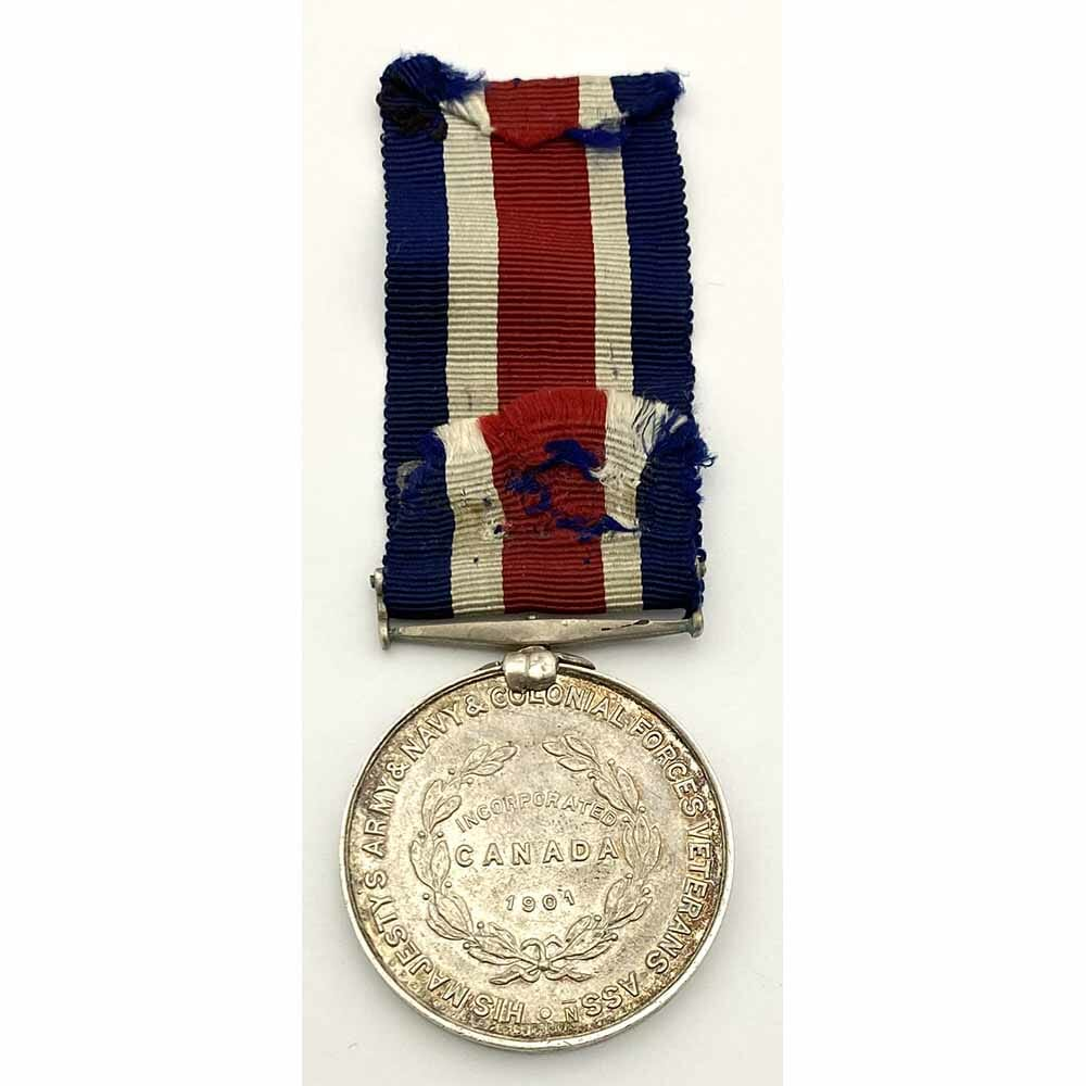 Canada Veteran Forces silver Medal 1901 2