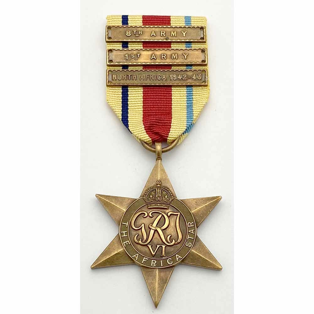 Africa Star with 3 clasps 1