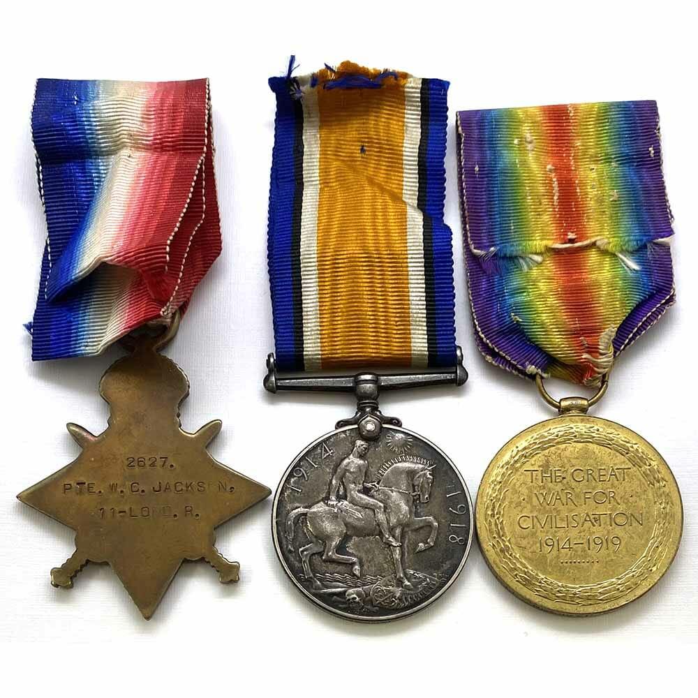1914-15 Star Trio Finsbury Rifles KIA Gallipoli 2