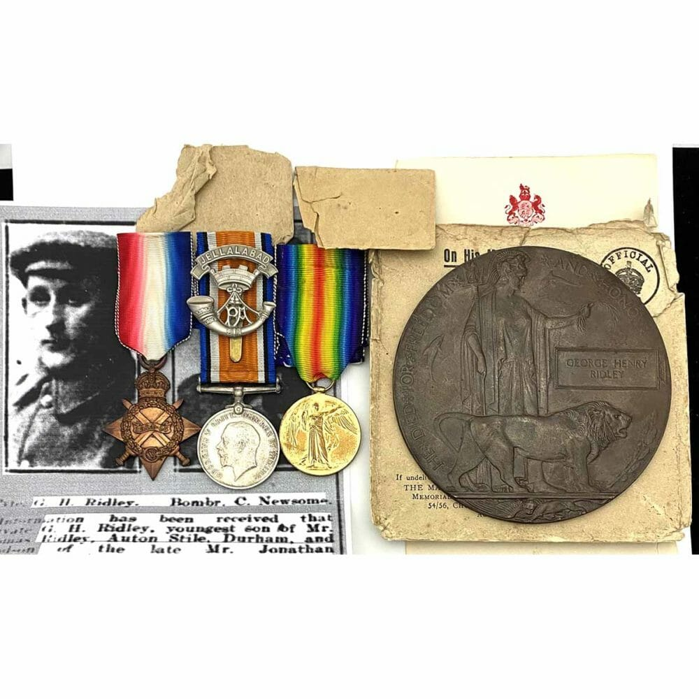 1915 Trio Plaque 1st Day Somme Som L.I. 1