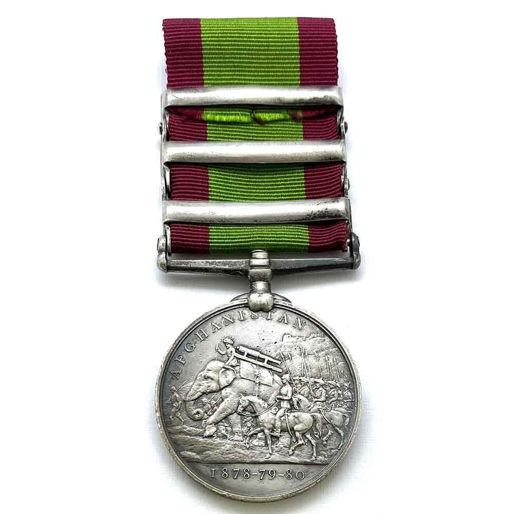 Afghanistan 3 bars 72nd Highlanders 2