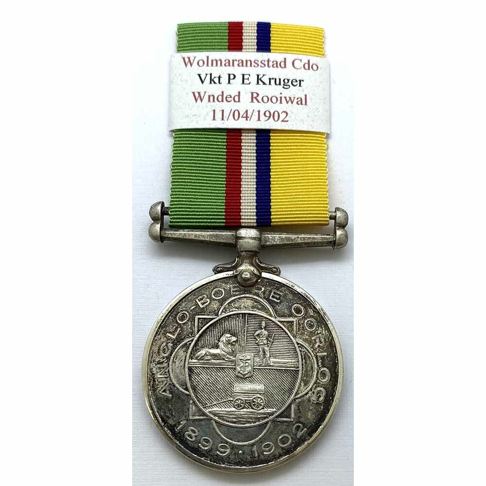 Boer Medal Veldkornet Officer Wound POW 1