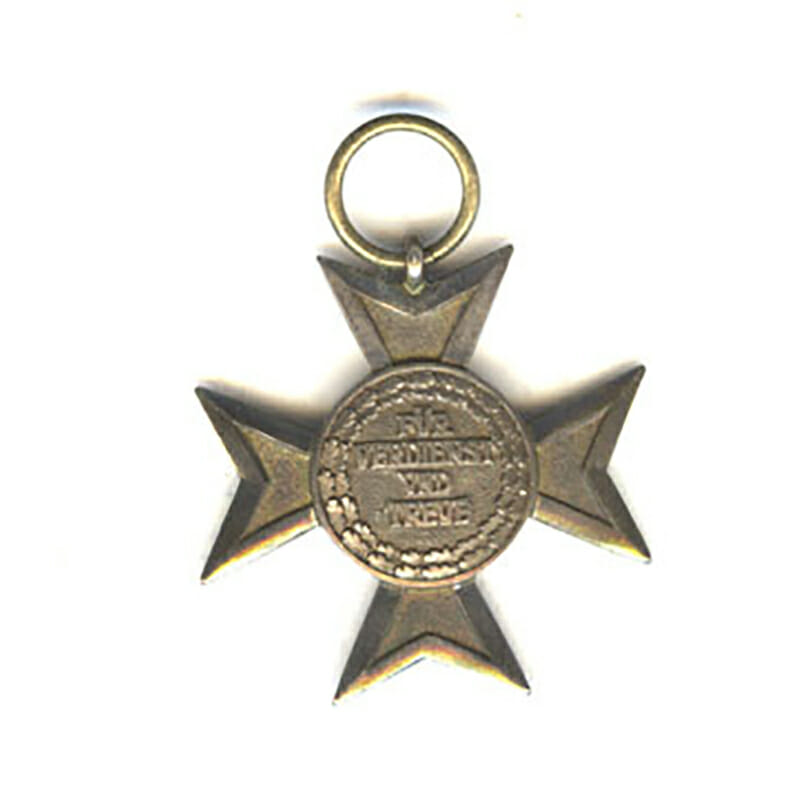 Civil Merit Order Silver merit cross 1815-1910 made with struck medallion  excellent... 2