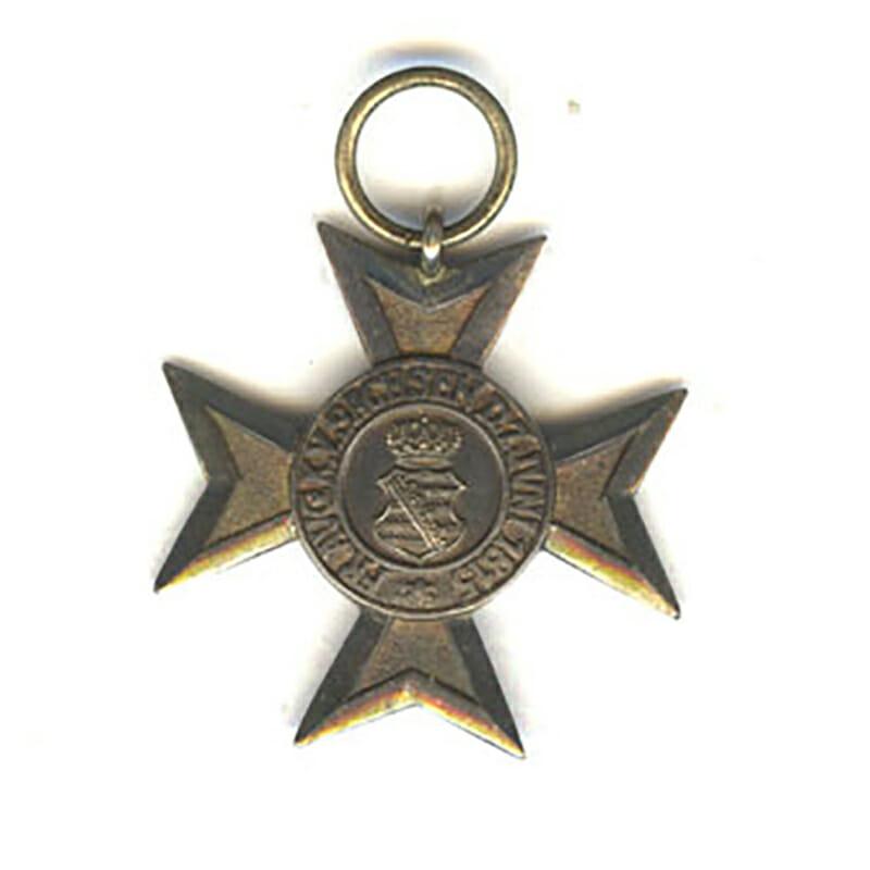 Civil Merit Order Silver merit cross 1815-1910 made with struck medallion  excellent... 1