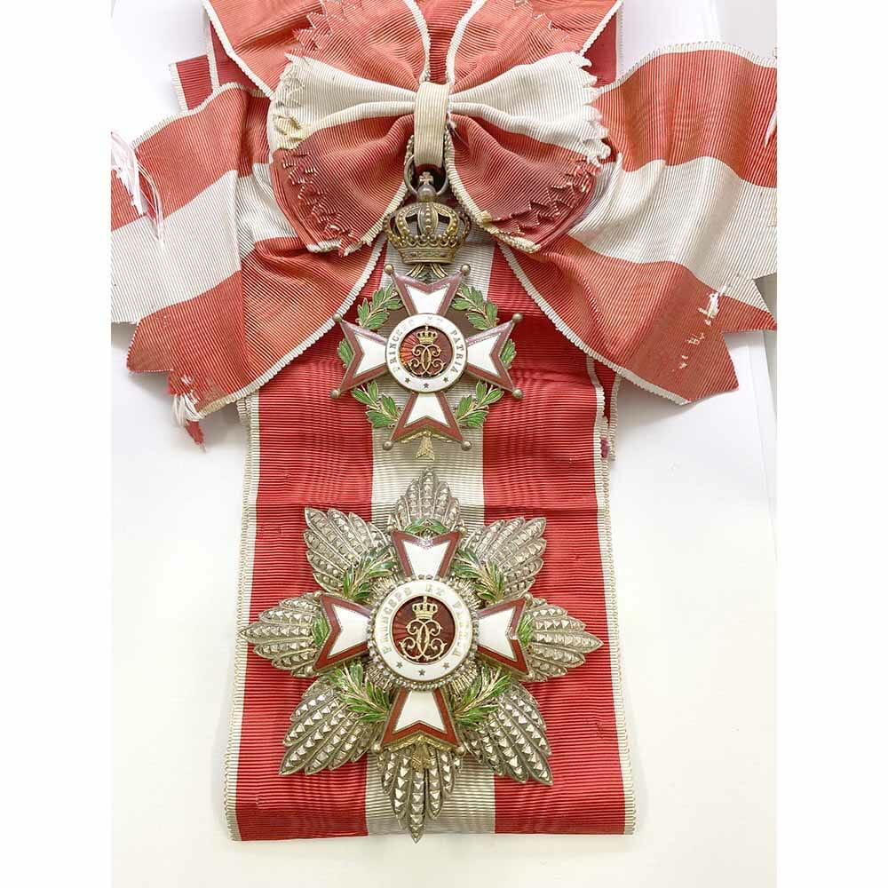 Order of St Charles Grand Cross  Set with full sash. 3