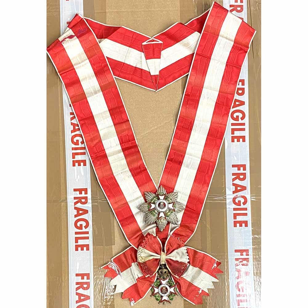 Order of St Charles Grand Cross  Set with full sash. 1