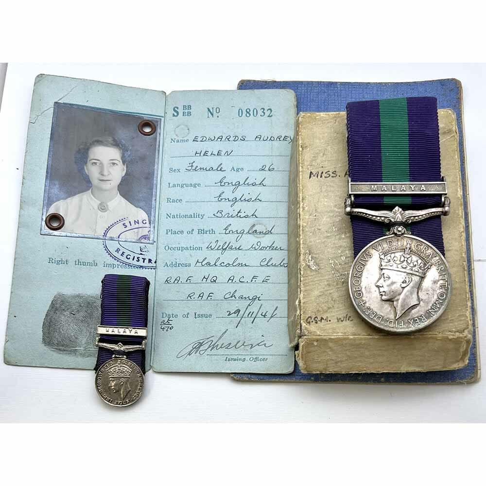 GSM Malaya Woman Civilian RAF Japan 1