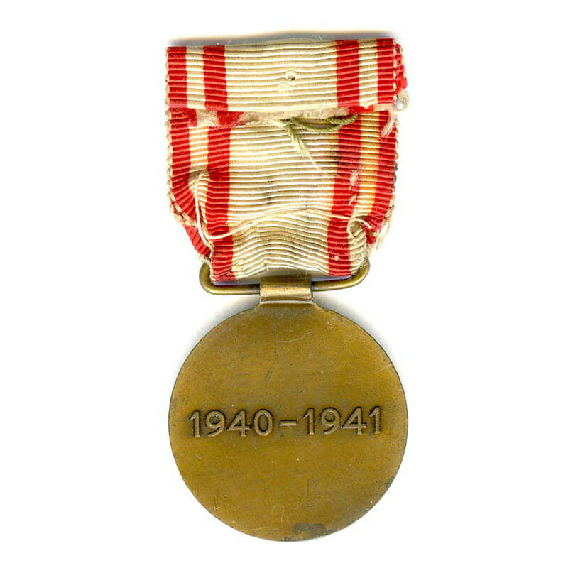 Red Cross Medal 1940-1941 bronze and enamel 2