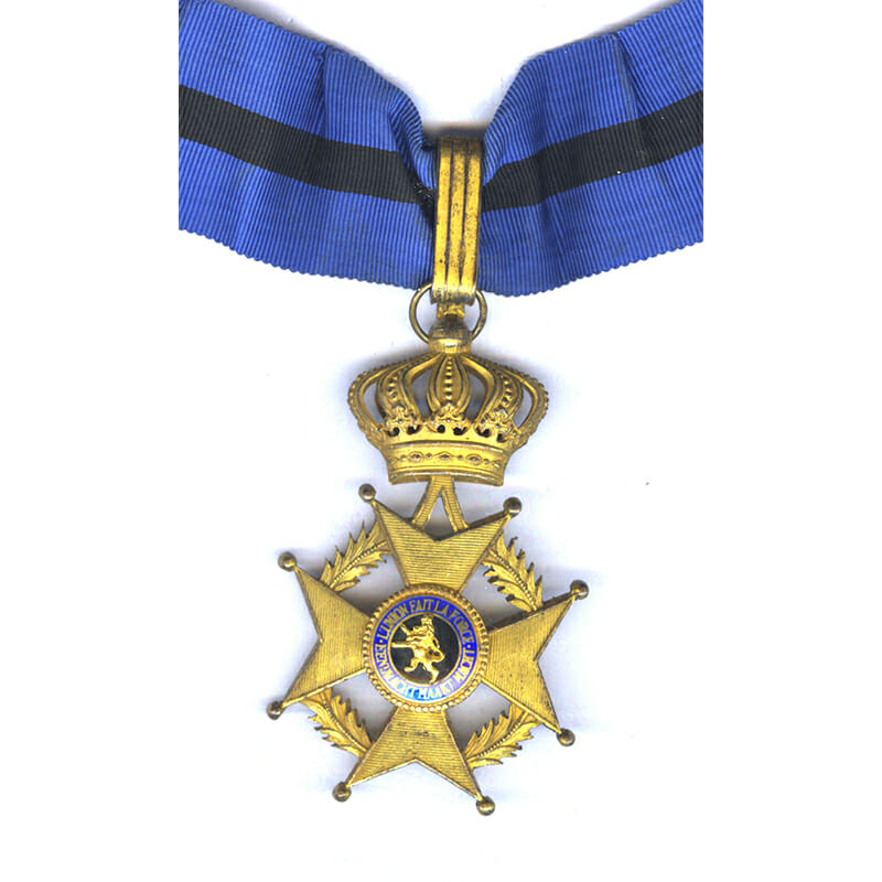 Order of Leopold II  2nd type Commander neck badge French/Flemish with... 1