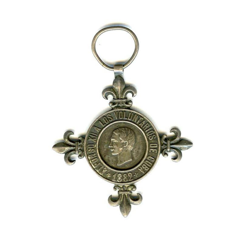 Cuban Volunteers medal 1882  silver (n.r.) 1