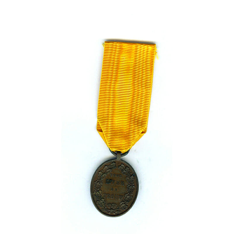 Medal for Zeal and Loyalty 1877 bronze 2