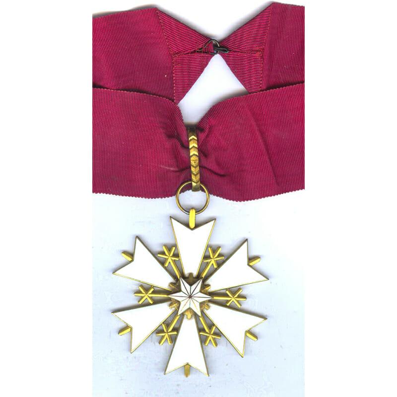 Order of the White Star Commander neck badge with original full neck... 1