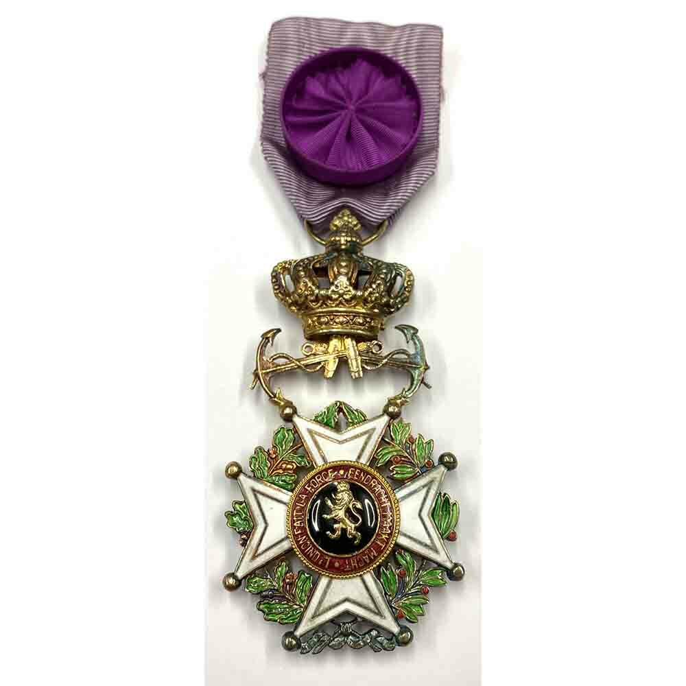 Order of Leopold French/Flemish Officer Naval with  Anchors 1